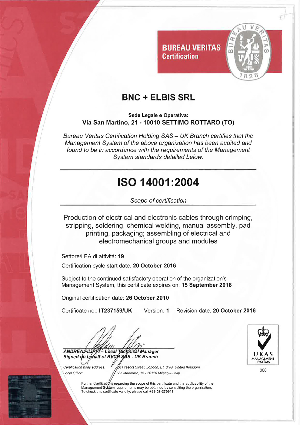 ISO 14001:2014